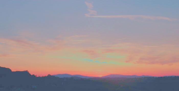 Sonnen Untergang w&p