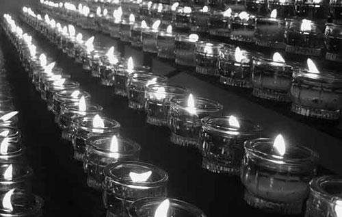 Kerzen Reihe w&c