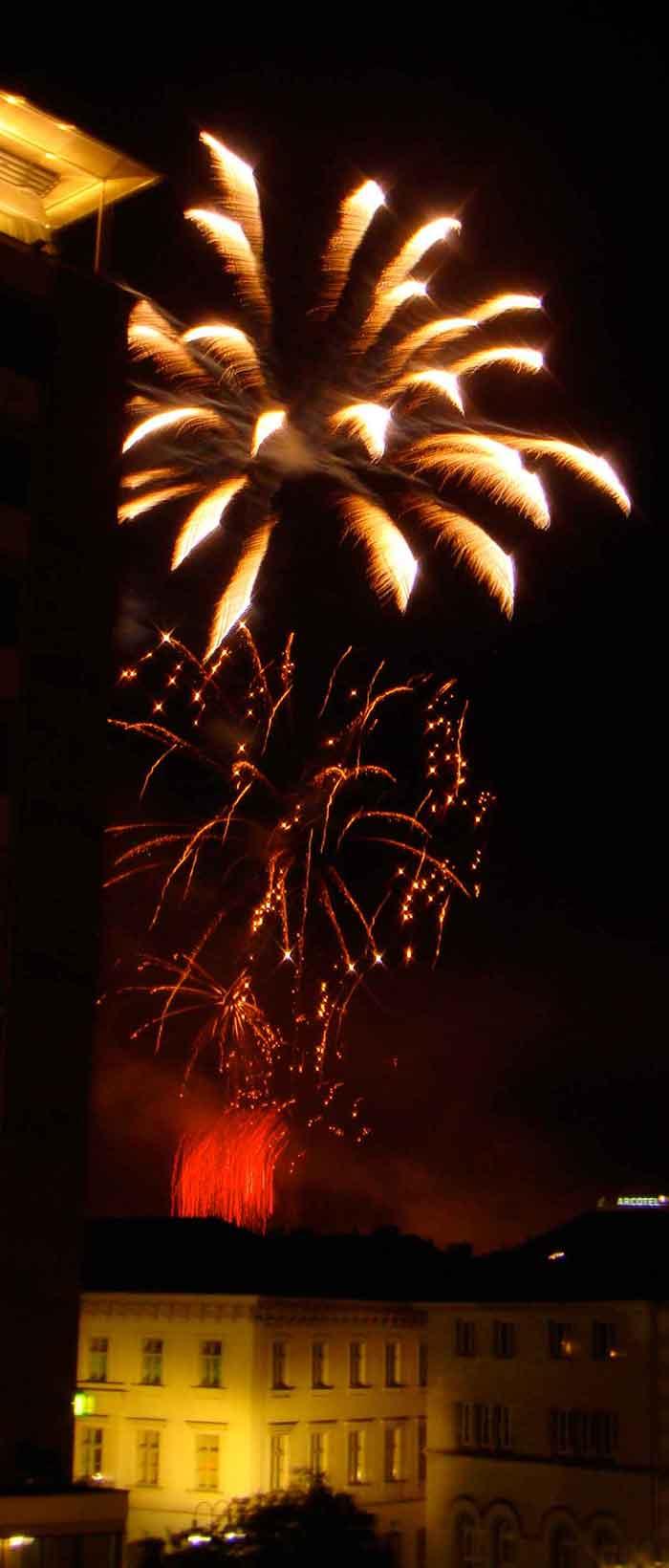 Stern Feuerwerk
