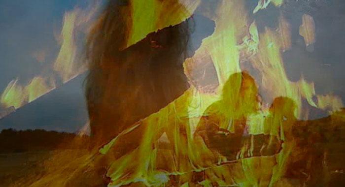 Feuer Hölle Hexe Teufel